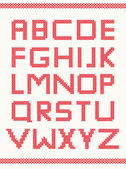 Cross stitch alphabet — Stok Vektör