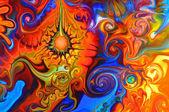 Färgglad graffiti bakgrund — Stockfoto