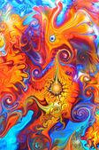 Colourful graffiti background — Stock Photo