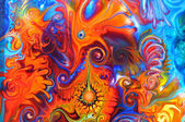 Colourful graffiti background — Stock Photo