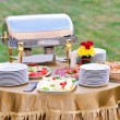 Royalty-Free Stock Photo: Catering food at a wedding party