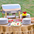 Stock Photo: Catering food at a wedding party