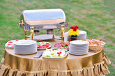 Catering food at a wedding party — Stock Photo