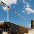 Crane at construction site — Stock Photo #5998766