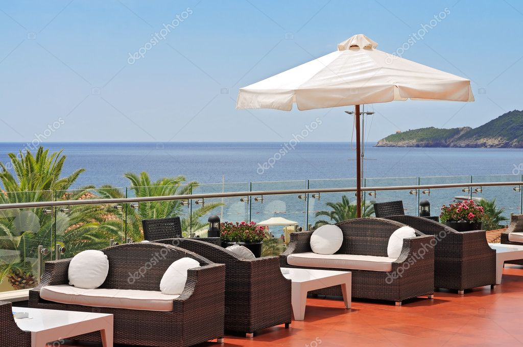 View on the Mediterranean sea from luxury hotel — Stock Photo #6190083