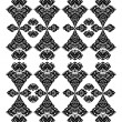 Decorative floral pattern black — Vettoriali Stock