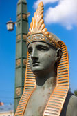 Sphinx on Egyptian bridge in St. Petersburg — Stock Photo
