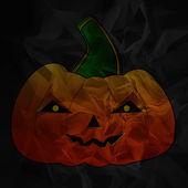 Pumpkin on black — Stock Photo