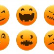 Halloween icons — Vector de stock #6695696