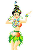 Hula Dancer — Stock Vector