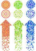 Mosaic Arrows — Stock Vector
