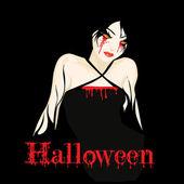 Halloween Girl — Stock Vector