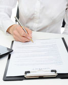 Signature of the contract — Stock Photo