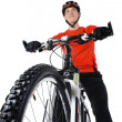 Portrait of a bicyclist — Stock Photo