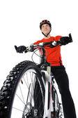 Portrait of a bicyclist — Stock Photo