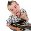Little musician playing guitar — Stock Photo #5914423