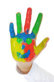 Hand Painted Child — Stock Photo
