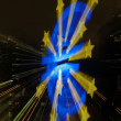 Euro monument in Frankfurt taken with lens shift - Stock Photo