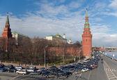 Moscú, el centro, atasco de tráfico — Foto de Stock