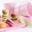 Delicious French Macaroons on table — Stock Photo #5483389