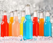 Cool summer drinks with ice — Stock Photo
