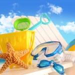 Closeup of children's beach toys — Stock Photo
