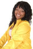 Girl in yellow jacket. — Stock Photo