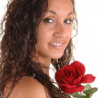 Stock Photo: Portrait with rose.