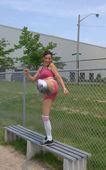 Kicking after photographer. — Stock Photo