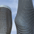Stock Photo: Close-up of round high rises.