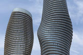 Close-up of round high rises. — Stok fotoğraf