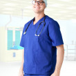 Modern hospital young man  doctor — Stock Photo