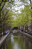 Canal in Amsterdam. — Stock Photo