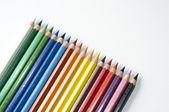 Beyaz zemin üzerine kalemler — Stok fotoğraf