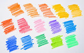 Colored pencil strokes — Stock Photo