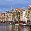 Classical Amsterdam view - Stock Photo