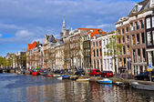 Classical Amsterdam view — Stock Photo