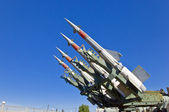 Rockets on the launcher — Stock Photo