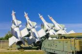 Rockets on the launcher — Stok fotoğraf