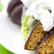 Stock Photo: Cake with whipped cream and kiwi