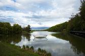 Gran lago en el bosque — Foto de Stock
