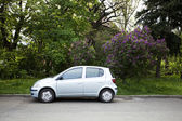 Car parked on the street — Stock Photo