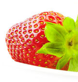 Strawberry isolated on white — Stock Photo