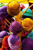 Background of colorful hats — Stock Photo