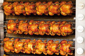 Grilled chicken background — Stock Photo