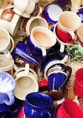 Bakgrunden keramiska cup — Stockfoto