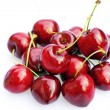 Cherries isolated on white - Stock Photo