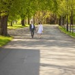 Just married running — Stock Photo #6005332