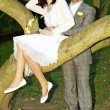 Just married in a beautiful garden — Stock Photo #6006496