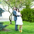 Just married in a beautiful garden — Stock Photo #6006522